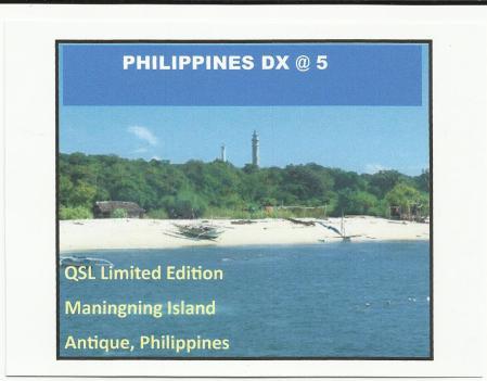 Pilipinas DX 5th Anniversary QSL